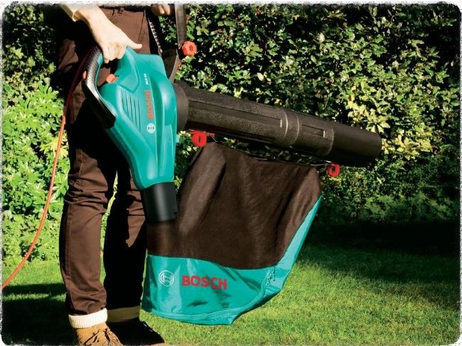 Садовые пылесос с мешком