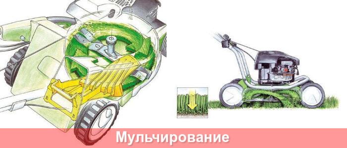 Мульчирование бензиновой газонокосилки